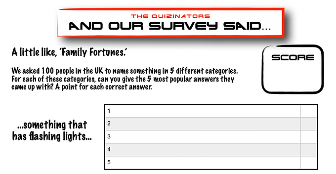 Family Fortunes Type Handout 12