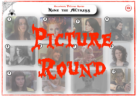 Halloween Actresses Picture Round