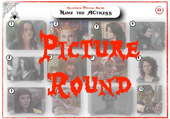 Halloween Actresses Picture Round