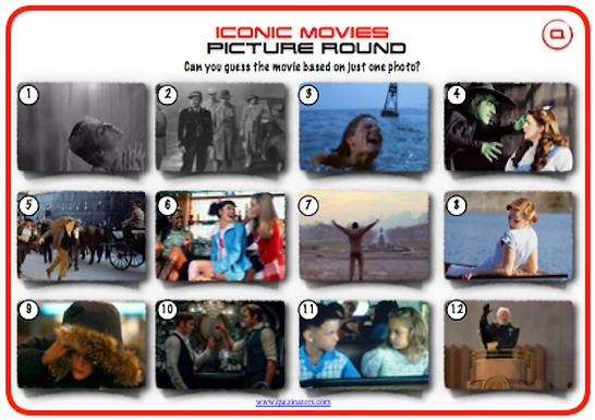 Iconic Movie Scenes Picture Round