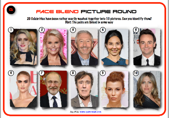 Face Blend Picture Round