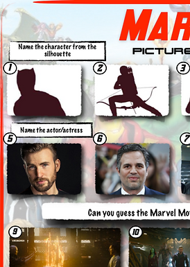 Marvel Themed Picture Round
