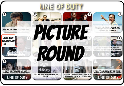 Line of Duty / Police Picture Round