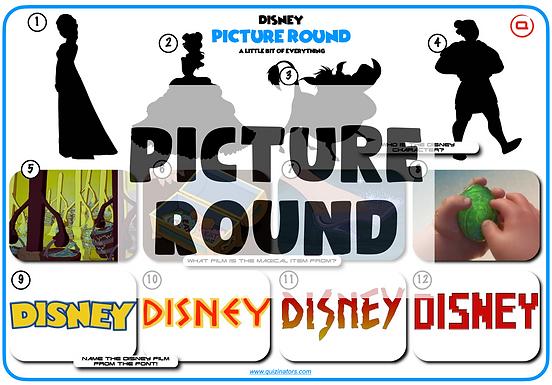 Disney Mixed Picture Round 3
