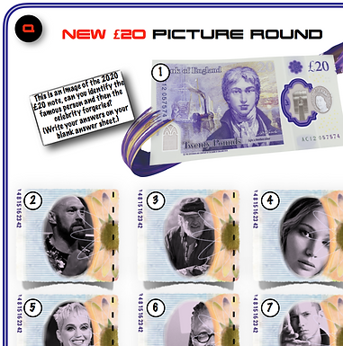 Name the celebrity inside the £20 notes