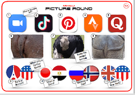 Mixed Picture Round 6 (Phone APP's / Bottoms / City Locations.)