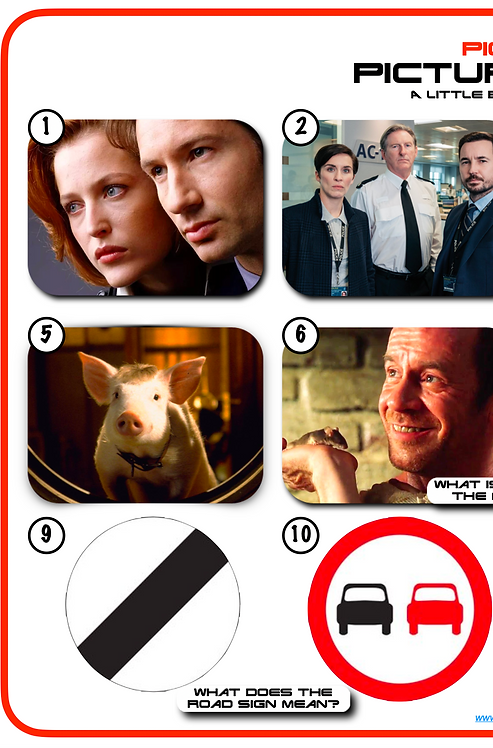 Mixed Pic Round 16: TV Shows / Movie Animals / Road Signs
