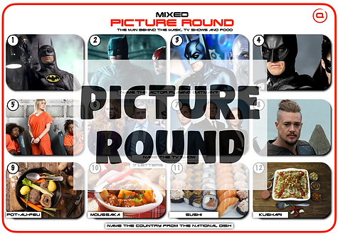 Mixed Picture Round 24: Batman, TV Shows and Food