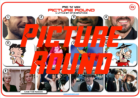 Mixed Picture Round 19: Beards / Cartoon Character / Romantic Comedies