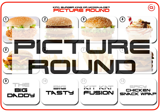 Fast Food Picture Round