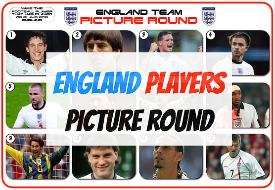 England Players Picture Round