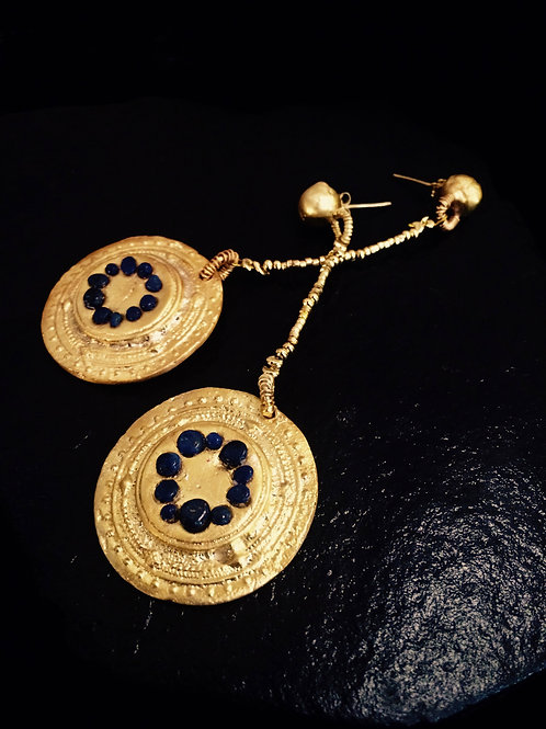 Old World Mezizi Disc Earrings