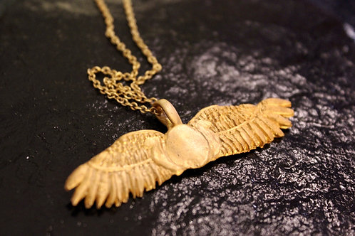 Old World Gold Sumerian Wings Pendant