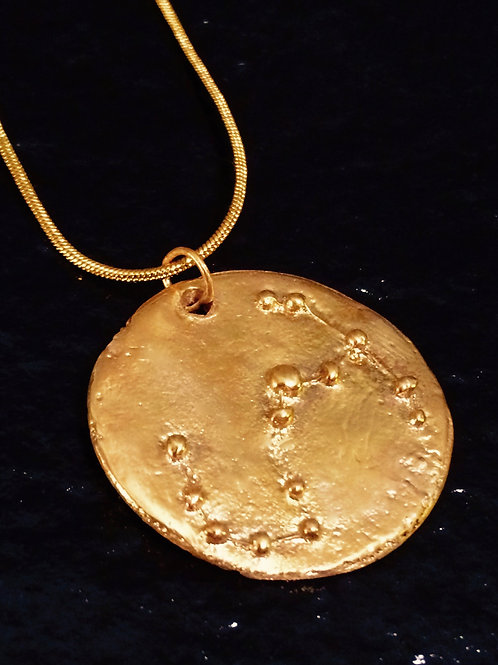Old World Star Constellation Gold Pendant Necklace