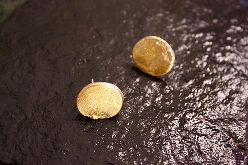 Old World Gold Disc Earrings