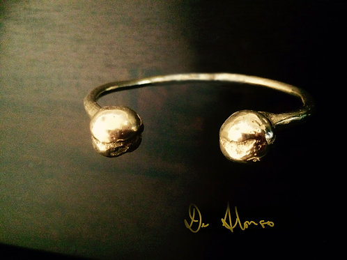 14K Yellow Gold Ancient Torque Bangle