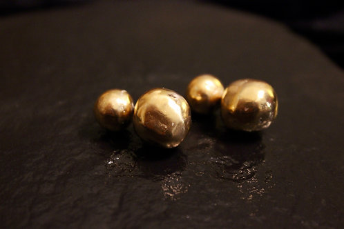 Old World Gold Bauble Earrings