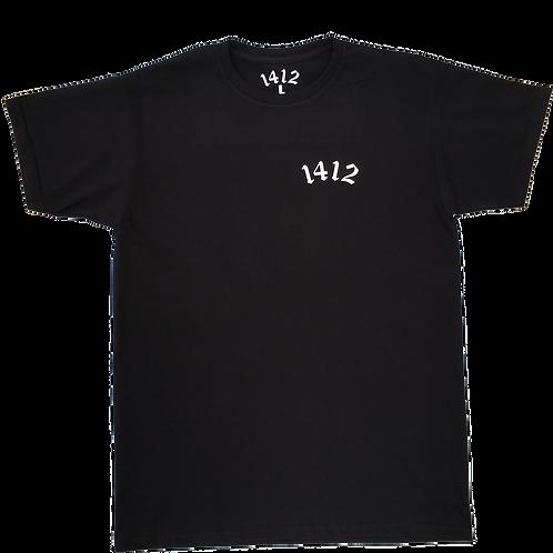 1412 T-shirt Logo Black