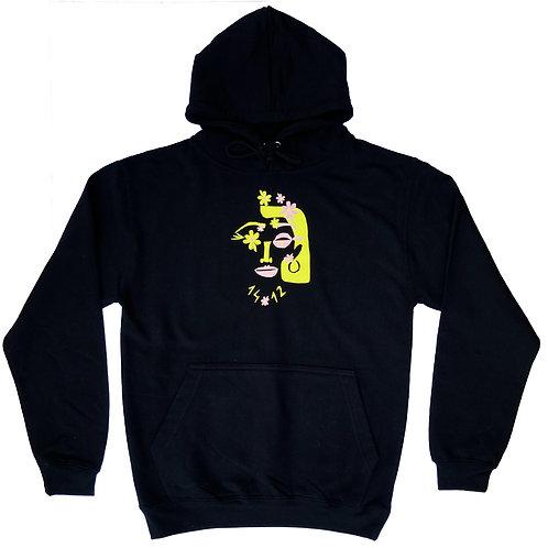 1412 Hoodie Dechva head - Black