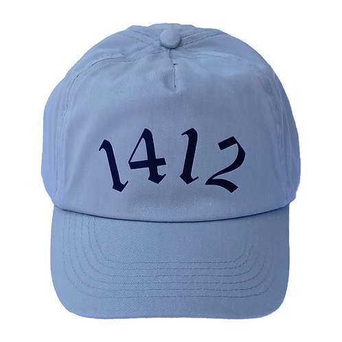 1412 - Five panel hat Grey