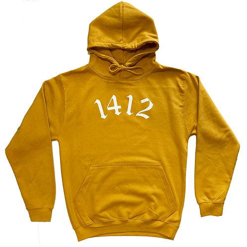 1412 Hoodie Logo Mustard