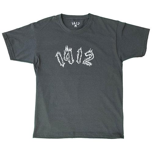 1412 T-shirt Fire Dark Grey