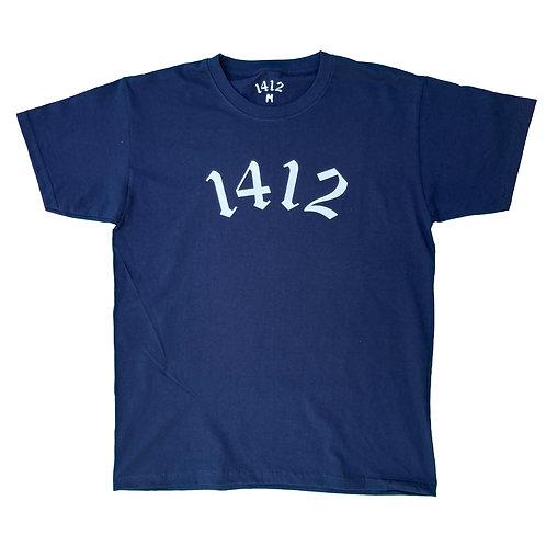 1412 T-shirt Logo Deep Blue