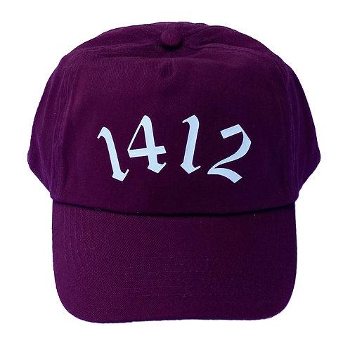 1412 - Five panel hat Burgundy