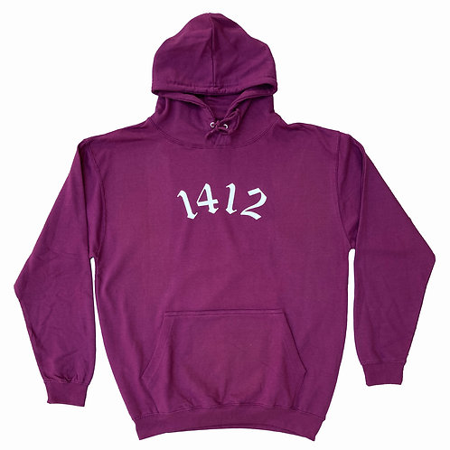 1412 Hoodie Burgundy