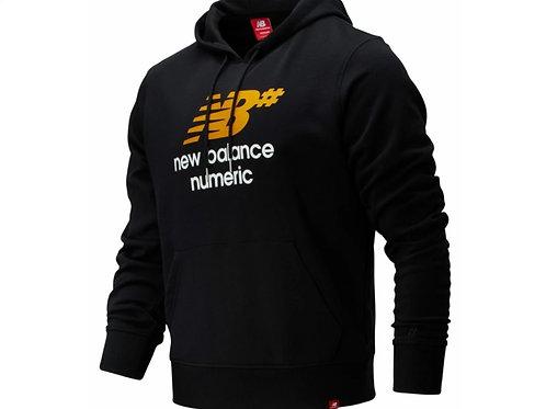 NB numeric logo stacked hoodie Black