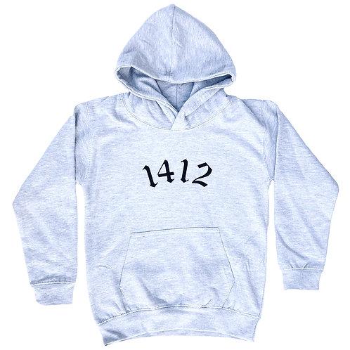 1412 Hoodie Grey - Kids