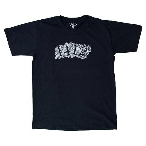 1412 T-shirt Skulls Black
