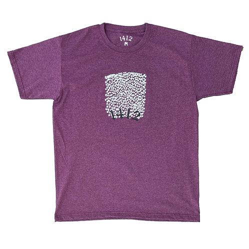 1412 T-shirt Crowd Burgundy