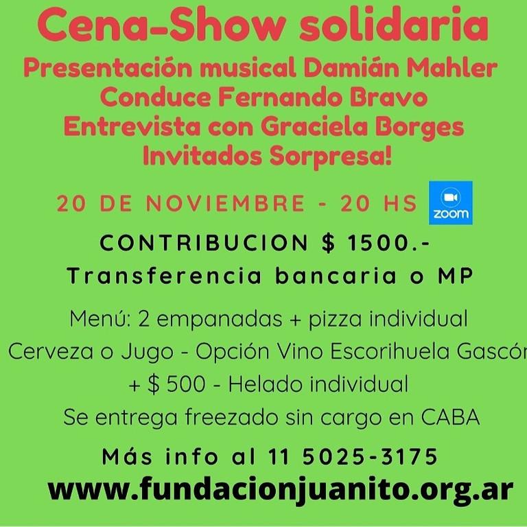 ¡Cena-Show Solidaria! ¡Contamos con vos!