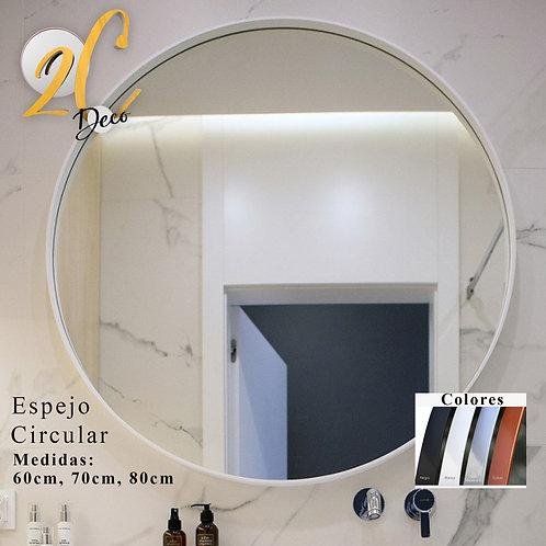 Espejo Circular Blanco 80cm