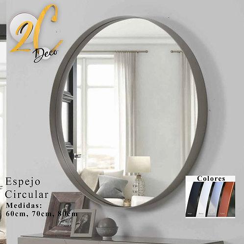 Espejo Circular Plata 50cm