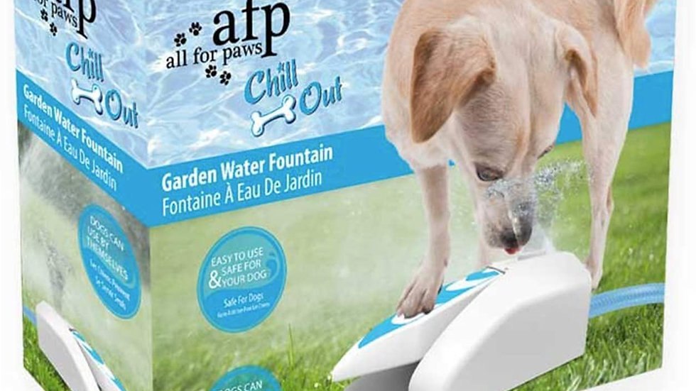 ALL FOR PAWS Chill Out Dog Drinking Water Fountain Garden Dispenser Hydration