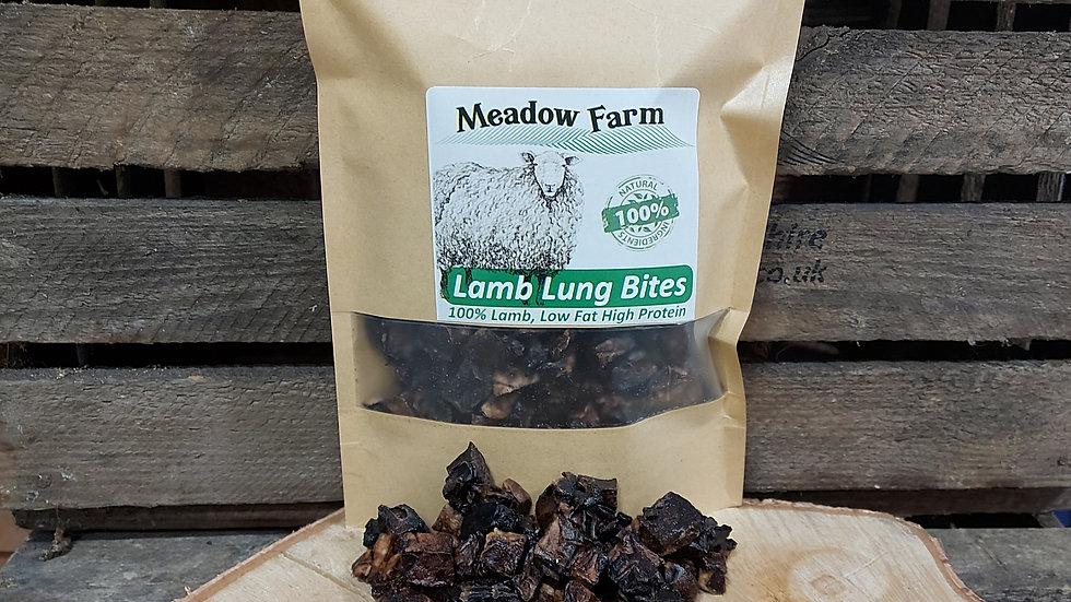 Lamb Lung Bites 150g, Meadow Farm