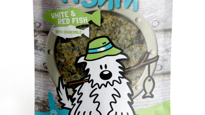 WHITE & RED FISH With CHAMOMILE Crunchies - Dog Gone Fishin