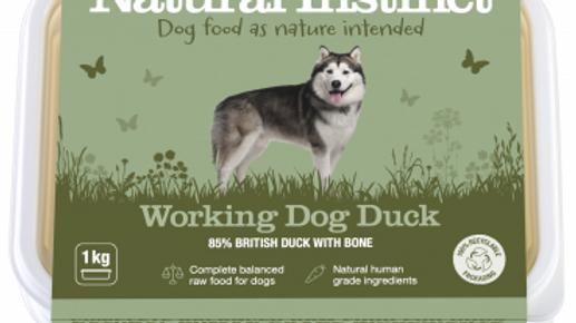 Working Dog Duck - 1kg - Natural Instinct Raw Complete