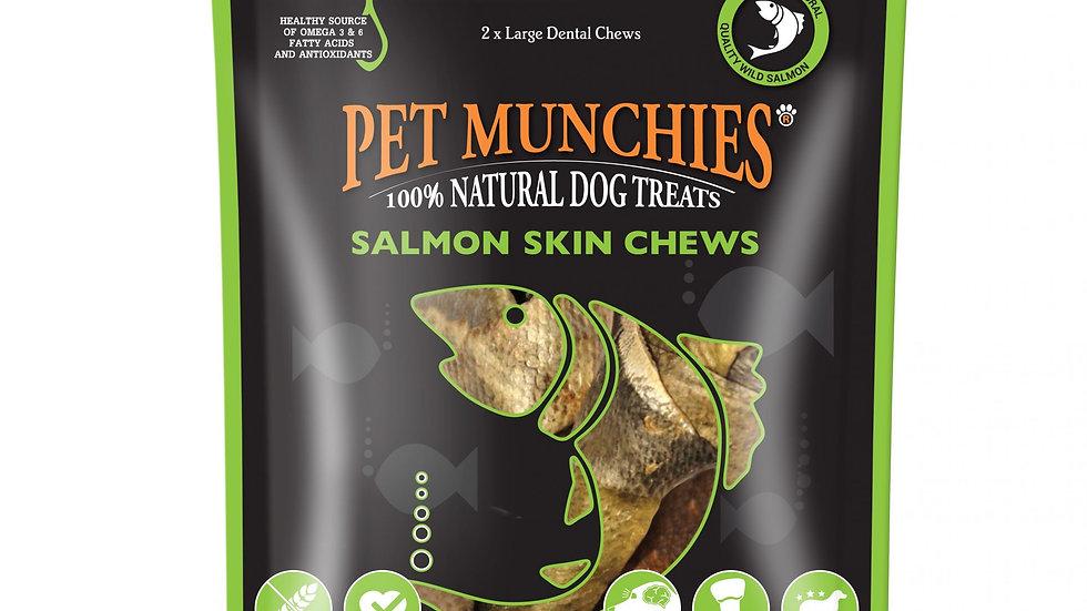 Salmon Skin Chews Large - Pet Munchies - 125g