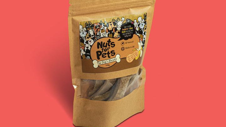 The Dog's Biscuits Banana & Peanut - Nuts For Pets
