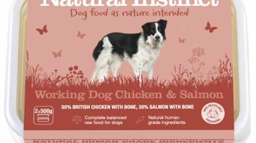 Working Dog Chicken & Salmon - 1kg - Natural Instinct Raw Complete