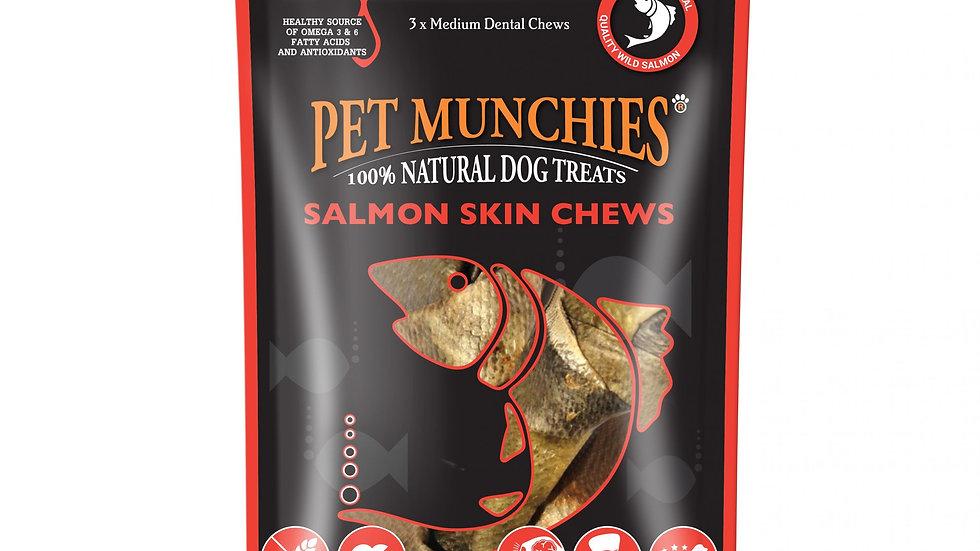 Salmon Skin Chews Medium - Pet Munchies - 90g