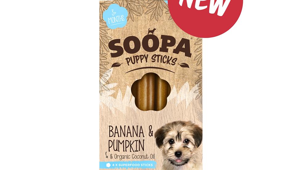 Soopa Puppy Dental Sticks - Banana & Pumpkin