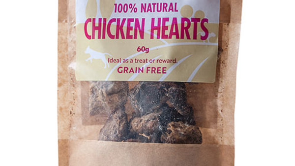 Natural Chicken Hearts 60g - Hollings