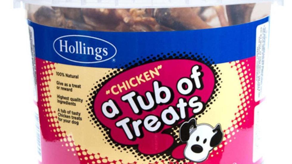 Hollings Tub of Chicken Dog Treats 450g
