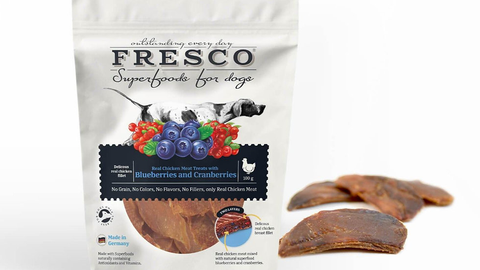 Fresco - Chicken Fillets with Blueberries & Cranberries - 100g