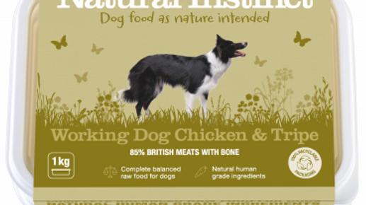 Working Dog Chicken & Tripe - 1kg - Natural Instinct Raw Complete