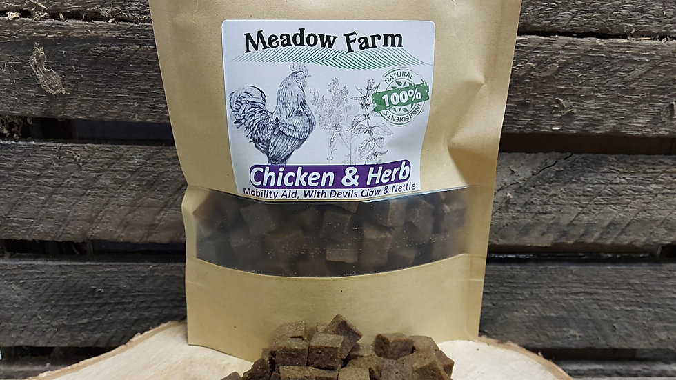 Chicken & Herb Mobility Aid Treats 300g, Meadow Farm